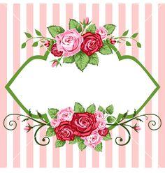 vintage bouquet clipart | Roses vintage vector 81264 - by ElaKwasniewski