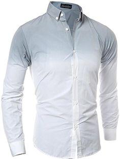 Jeansian Hommes Chemise Manches Printing Longues Slim Fit Casual Mens  Fashion Shirt 84A8  Amazon.fr  Vêtements et accessoires cc1360f6af82