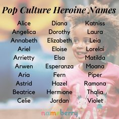 Pop culture heroine names namen französisch namen meisje uniek namen nederlandse namen verraten names hispanic names ideas names trend names unique names vowel Cute Baby Names, Pretty Names, Unique Baby Names, Baby Girl Names, Boy Names, Names That Mean Beautiful, Cultura Pop, Hispanic Baby Names, Fantasy Names
