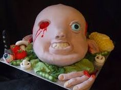 Image result for scary halloween cake