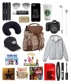"""""""Car trip essentials"""" by ckh538 ❤ liked on Polyvore featuring MAC Cosmetics, Billabong, TOMS, Urbanears, Casetify, Lacoste, Chapstick, Lewis N. Clark, Canon and adidas"""