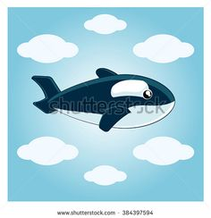 Illustration about Vector illustration imaginary airplane whale. The poster for the wishes of a pleasant stay happy travelers. Illustration of keyth, amazing, bulk - 68542896 Plane Vector, Stay Happy, Airplane, Whale, Royalty Free Stock Photos, Illustration, Poster, Pictures, Design