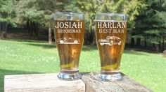 Check out this item in my Etsy shop https://www.etsy.com/listing/512343708/groomsman-pilsner-glass-chevelle-and
