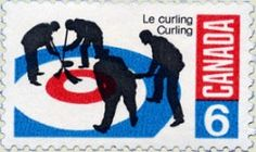 The Sport of Curling on Coins and Stamps Postage Stamp Design, Postage Stamps, Curling Canada, Maud Lewis, Canada Christmas, World Health Day, Christmas Snowflakes, Paper Tags, Curls