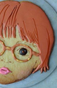 Cookie de la pâtisserie Burrow d'Ayaka Kurokawa - Brooklyn (New-York) Cookies For Kids, Fancy Cookies, Iced Cookies, Fondant Cupcake Toppers, Cupcake Art, Cupcake Cookies, Cake Branding, Happy Birthday Kids, Paint Cookies