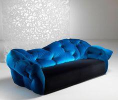 Feels Like Sitting On A Cloud Meritalia Nubola Sofa By Gaetano Pesce   Home  Interior Design