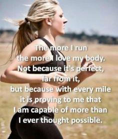 the more I run