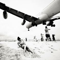 Des avions sur la plage