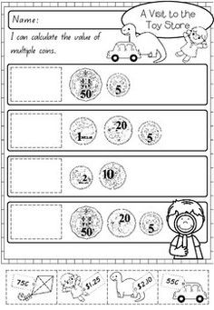 Free printable worksheets for counting Australian coins and bills. Worksheets are customizable and randomly generated. Here you will find a selection of free printable money games for US and UK coins to help kids learn how to count money. Money Worksheets, Kindergarten Worksheets, Printable Worksheets, Free Printable, Teaching Skills, Teaching Math, Primary Maths Games, Learning Money, Australian Money