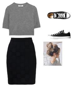 """Untitled #3"" by kayleesemail on Polyvore featuring Balmain, Valentino and Converse"