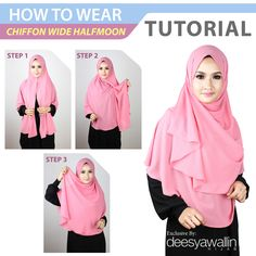 Gallery of Beautiful Hijaber Square Hijab Tutorial, Pashmina Hijab Tutorial, Hijab Style Tutorial, Hijab Turban Style, Hijab Outfit, Cara Hijab, How To Wear Hijab, Maxi Dress Tutorials, Velvet Dress Designs