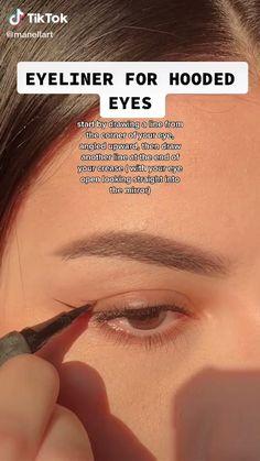Edgy Makeup, Makeup Eye Looks, Eyeliner Looks, Eye Makeup Art, Natural Eye Makeup, Skin Makeup, Eyeshadow Makeup, Natural Everyday Makeup, Pretty Eye Makeup