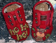 Christmas Reindeer Theme Painted TOMS
