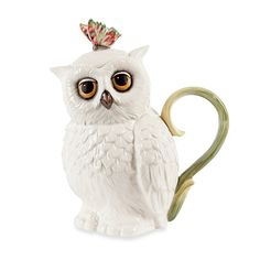 Fitz and Floyd Owl Teapot Server. Treat yourself and a friend to a cup of your favorite tea, served in the Owl Teapot from Edie Rose by Rachel Bilson. Rachel Bilson, Teapots Unique, Teapots And Cups, Owl Art, Chocolate Pots, Tea Time, Tea Party, Tea Cups, Mugs