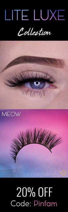 2ca79ee6ddf Luxury 3D Silk Lashes. #ritzyMEOW #ritzycosmetics #ritzyco Silk Lashes,  Round Eyes