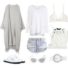 Minimal Summer Outfit by fashionlandscape on Polyvore featuring Mode, Crea Concept, One Teaspoon, Yasmine eslami, Alexander Wang, Mansur Gavriel and BCBGMAXAZRIA