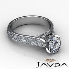 2 45ct Glistening Oval Cut Diamond Engagement 14k White Gold G SI1 GIA Halo Ring   eBay