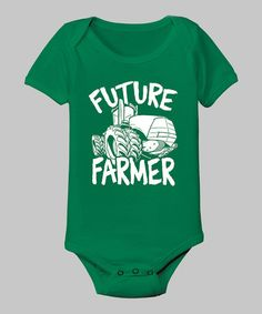 Another great find on #zulily! Kelly Green 'Future Farmer' Bodysuit - Infant by Zip-Tees #zulilyfinds