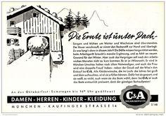 Original-Werbung/ Anzeige 1958 - C & A - BRENNINCKMEYER - MÜNCHEN  - ca. 220 x 150 mm