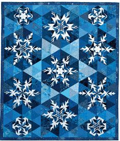 Snowflakes, designed by Barbara Fiedler and Sherri Driver, seen at QuiltMaker
