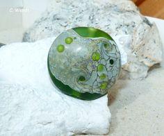 Handgewickelte Glasperle - Linse - von glasswork auf DaWanda.com