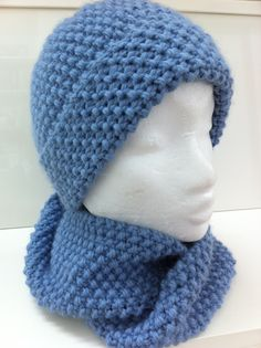 Ensemble bonnet et snood bleu   Chapeau, bonnet par bonnets-et-snoods- 9ecfdc2255f