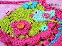 Birdie purse crochet pattern DIY por VendulkaM en Etsy