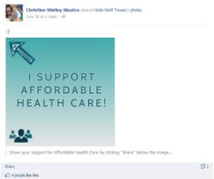 Here's another creative use of a Facebook post!    https://www.facebook.com/christine.s.sinatra/posts/228747700580256