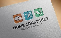 Home Construct Logo by fastudiomedia on @creativemarket