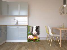 Bring dein eigenes Bild auf die Kühlschrankfolie! Wie wäre es mit einem passenden Motiv zur Osterzeit? #kuehlschrank #kueche #ostern