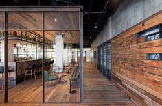 Mercato Restaurant Shanghai by Neri & Hu | Yellowtrace...reclaimed timber for outside northern fenceline