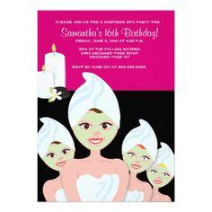 SPA Girls PARTY Birthday or Bridal Shower 5x7 Custom Invite