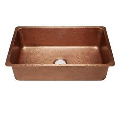 SINKOLOGY David Luxury Undermount Handmade Solid Copper 31-1/4 in. Single Bowl Kitchen Sink in Antique Copper-SK203-31AC - The Home Depot