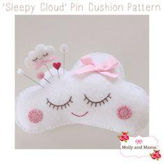 PDF Felt 'Sleepy Cloud' Pin Cushion Softie / Toy by MollyandMama