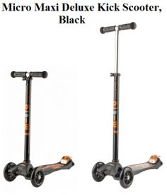 Check my review on Micro Maxi Deluxe Kick Scooter in Black, a smooth, light and quiet running Iconic Swiss design lean to turn scooter for boys and girls.