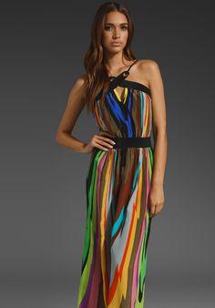 <3 MILLY Kaleidoscope Print Kiki Halter Beach Dress in Multi at Revolve Clothing - Free Shipping!