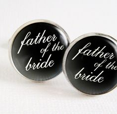Father of the Bride Cufflinks    Custom made by WaxwingJewelry, $43.00
