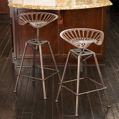 Chapman Saddle Seat Copper Counter Stool - Add rustic, contemporary style to your home with the Chapman Saddle Seat Copper Counter Stool. Made from durable iron with a copper finish, this stool...