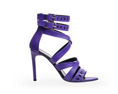 $490 Violet Double Strap Leather Sandal Lulu by MARA D.  Shop here: http://www.trendcy.com/violet-double-strap-leather-sandal-lulu/