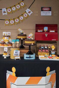 Dessert Table from a Construction Birthday Party via Kara's Party Ideas! KarasPartyIdeas.com (35)