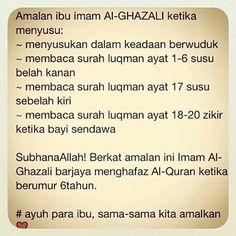 4 Amalan Ibu Imam Al-Ghazali semasa menyusu