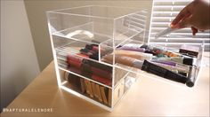 Cq acrylic Extra Large 5 Tier Clear Acrylic Cosmetic Makeup Storage Cube Organizer with 5 Drawers. It Consists of 3 Separate Organizers, Each of Which Can be Used Individually - Cute Makeup Guide Makeup Storage, Makeup Organization, Closet Organization, Makeup Geek, Makeup Tips, Makeup Tutorials, Diy Vanity Table, Make Up Organiser, Beauty Case
