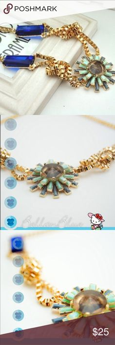 🆕The FUN with KNOTS necklace Gorgeous rhinestone flower necklace. Beautiful stones & elaborate gold tone knotting.    ❌NO TRADE❌  🚨🚨PRICE FIRM🚨🚨 Bellanblue Jewelry Necklaces