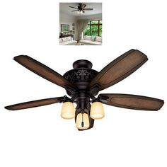 Ceiling-Fans-With-Lights-Bronze-54-Inch-Light-Kit-Lighting-Hunter-Home-Living