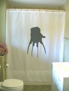 Items Similar To Nightmare Claw Shower Curtain Murder Horror Halloween Bad  Dream Blade Die Kill Bathroom Decor Bath Curtains Custom Size Long Wide ...