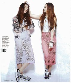SNSD's Jessica and f(x)'s Krystal for Nylon magazine June 2014