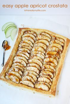 Easy Apple Apricot Crostata -- puff pastry makes it simple AND beautiful and oh so flaky and yummy!
