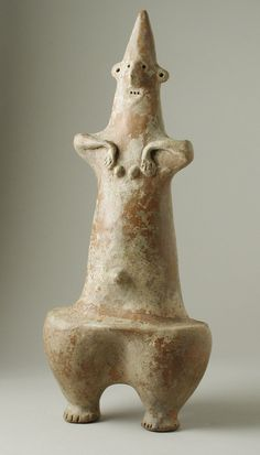 Woman. Western Iran, 1350-800 B.C. Sculpture, Ceramic. Height: 14 3/4 in. (90.81 cm)