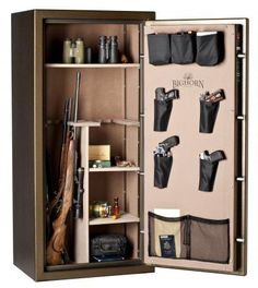 I know a few people in my life that would love to have a gun safe like this! It's perfect for longer guns as well as pistols. I like the shelves for the ammo as well. If it had room for some boxes of clay pigeons, you'd be set.