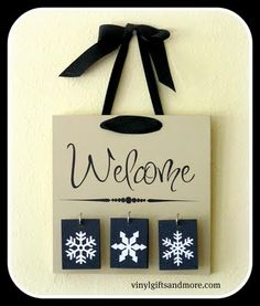 Welcome sign with interchangeable blocks! Great gift.